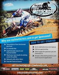 Motocross Sponsor Resume Links U0026 Sponsors