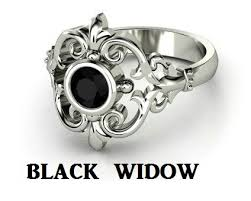 widow wedding ring black widow engagement ring ideas