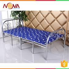Tempat Tidur Besi Lipat murah modern desain umum digunakan tunggal lipat logam tidur besi