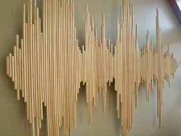 diy wooden stick wall decoration soundwave modiden