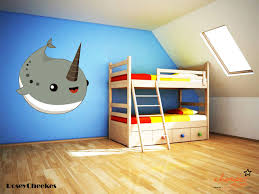 chamber decals narwhal wall decal roseycheekes