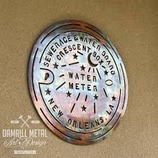 new orleans water meter personalized wedding anniversary framed louisiana damrill