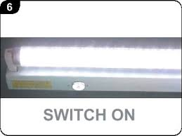 fluorescent light starter replacement how to replace a fluorescent tube with an etl approved led tube