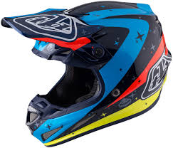 custom motocross helmet troy lee designs lps 7605 troy lee designs se3 neptune blue red