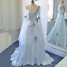 celtic weddings discount vintage celtic wedding dresses white and pale blue