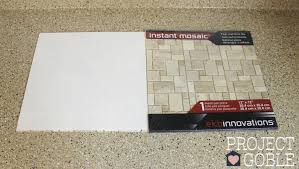 How To Install A Peel  Stick Mosaic Tile Kitchen Backsplash - Adhesive kitchen backsplash