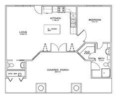 Micro Cottage Plans by One Bedroom House Plans Home Plans Homepw24182 412 Square Feet