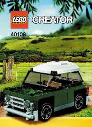 lego volkswagen mini lego mini mini cooper 40109 modular brick