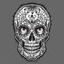 spider web sugar skull
