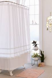 white shower curtains bathroom curtains urban outfitters