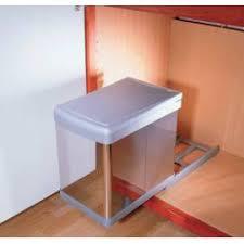 poubelle cuisine de porte poubelle coulissante monobac sous évier accessoires de cuisines