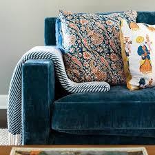 Modern Blue Sofa Best Blue Velvet Sofas Roger Chris
