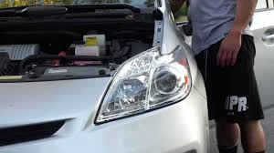 toyota prius led headlight installation youtube