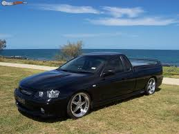 ford fg ute in nitro blue wearing simmons fr 18 wheels very nice