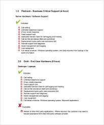 7 it support contract templates u2013 free word pdf documents