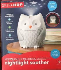 skip hop owl night light skip hop moonlight melodies nightlight soother owl music nature