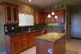 kitchen refacing cabinets in brown with white windows blind also