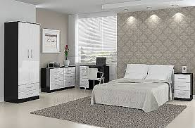 Gloss White Bedroom Furniture Black With Gloss White Bedroom Furniture Range Birlea Furniture Ltd