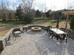 Patio Pavers Orlando by Backyard Brick Paver Patio With Natural Stone Fireplace Columns