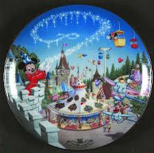 25th anniversary plates bradford exchange walt disney world 25th anniversary at