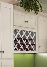white shaker style wall wine rack dream kitchens modern