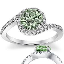 green wedding rings light green engagement ring 3 i d prefer a soft blue but it s