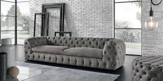 Tufted Chesterfield Sofa by Sofa Tan Leather Sofa Denim Sofa Tufted Sofa Microsuede Sofa