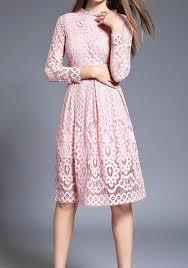 midi dress pink patchwork lace draped sleeve midi dress midi