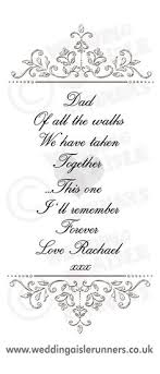 wedding quotes uk verse placed at the entrance end of you wedding aisle runner