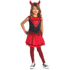 halloween devil costumes devil doll cheerleader child halloween costume walmart com