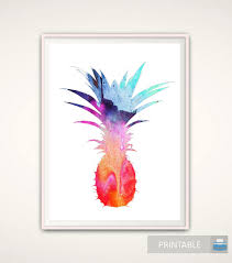 Pineapple Decorations For Kitchen by Pineapple Wall Art Pineapple Print Tropical Wall Art