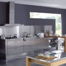 meuble cuisine inox bross cuisine équipée près meuble design table basse élégant simple