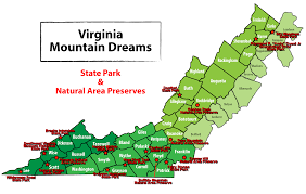 virginia state parks map veterans free admission to all virginia state parks daniel d