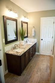 bathroom design wonderful wood framed bathroom mirrors large