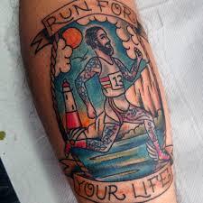 40 running tattoos for men ink design ideas in motion