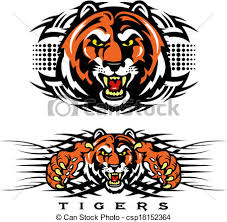 tribal tiger design clip vector search drawings and graphics