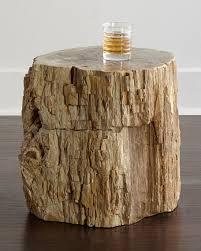 Wood Side Table Bernhardt Bangor Petrified Wood Side Table