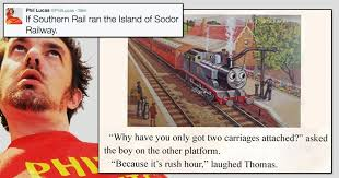 Thomas The Tank Engine Meme - these six if southern rail ran the island of sodor railway