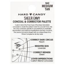 Color Concealer Hard Candy Sheer Envy Conceal U0026 Corrector Palette 2 Oz Litmed