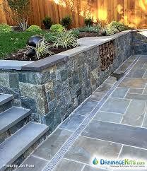 Drainage Patio Patio Drainage Solutions Cast Iron Drainage Grates In Stone Patio