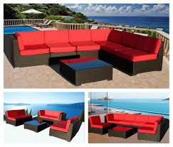 Curved Modular Outdoor Seating by Wicker Patio Furniture Los Angeles Las Vegas And San Diego