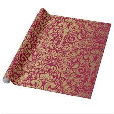 damask wrapping paper gold glitter royal damask wrapping paper zazzle