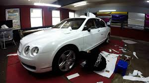 bentley wrapped bentley flying spur diamond white wrap youtube
