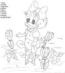 printable color number adults by coloring pages for kids