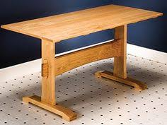 Simple Woodworking Projects Plans by How To Build A Trestle Table Simple Diy Woodworking Project
