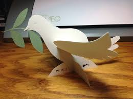 papercrafts and other things peace dove ornament