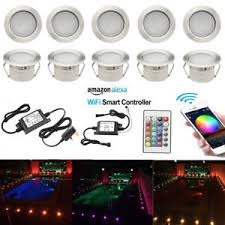 wifi led recessed lights 10x 45mm mini wifi controller rgb led deck step plinth outdoor