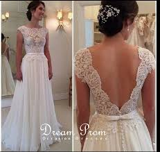 wedding and prom dresses ivory open v neck lace prom dress wedding dress