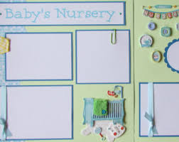 baby boy scrapbook album premade 12x12 scrapbook pages baby boy layout baby s