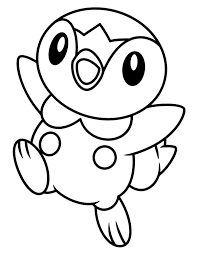 pokemon free printable coloring pages happy piplup legendary pokemon coloring page free u0026 printable